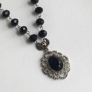 Jewelry - Faceted pendant petite gargoyle beaded necklace